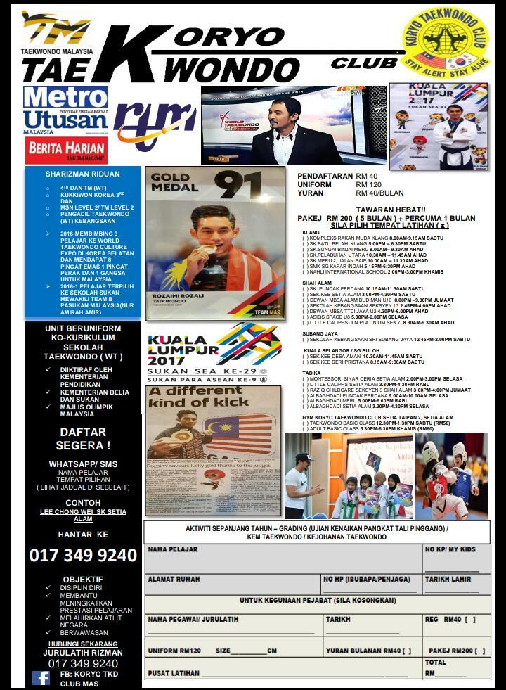 Info Latihan Taekwondo